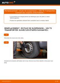 Comment effectuer un remplacement de Rotule de Suspension sur 2.5 TDI VW Transporter T5