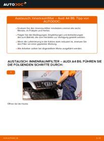 Wie der Wechsel durchführt wird: Innenraumfilter 1.9 TDI Audi A4 b6 tauschen