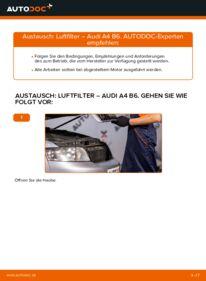 Wie der Wechsel durchführt wird: Luftfilter 1.9 TDI Audi A4 B6 tauschen