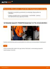 Jak przeprowadzić wymianę: Filtr paliwa w AUDI A4
