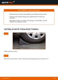 Kaip atlikti keitimą: 1.9 TDI Audi A4 b6 Pasukimo trauklė