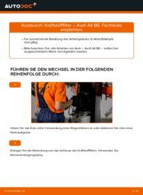 Wie der Wechsel durchführt wird: Kraftstofffilter 1.9 TDI Audi A4 B6 tauschen