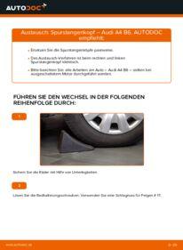 Wie der Wechsel durchführt wird: Spurstangenkopf 1.9 TDI Audi A4 b6 tauschen
