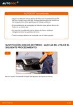 Cómo cambiar: discos de freno de la parte delantera - Audi A4 B6 | Guía de sustitución