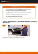 Hur byter man Bromsskiva bak och fram AUDI Q7 - handbok online