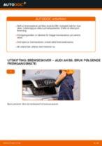 Slik bytter du bremseskiver fremme på en Audi A4 B6 – veiledning
