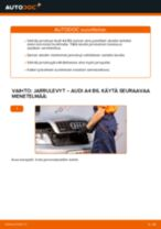 Kuinka vaihtaa jarrulevyt eteen Audi A4 B6-autoon – vaihto-ohje