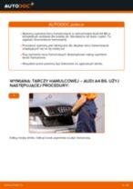 Jak wymienić tarcze hamulcowe przód w Audi A4 B6 - poradnik naprawy