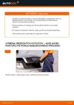 AUDI Brzdový kotouč zadné a predné vymeniť vlastnými rukami - online návody pdf