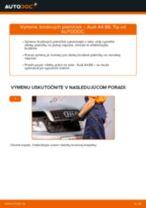 Online návod, ako svojpomocne vymeniť Brzdové doštičky na aute AUDI A4 (8E2, B6)
