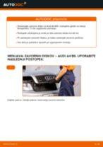 Zamenjati Zavorni kolut na AUDI A4 (8E2, B6) - namigi in triki