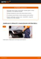 Kako zamenjati zadaj in spredaj Zavorni kolut AUDI A4 (8E2, B6) - vodič spletu