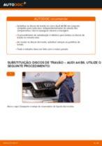 Como mudar discos de travão da parte dianteira em Audi A4 B6 - guia de substituição