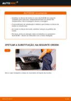Como mudar discos de travão da parte traseira em Audi A4 B6 - guia de substituição