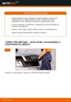 Elülső féktárcsák-csere Audi A4 B6 gépkocsin – Útmutató