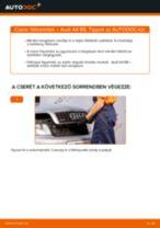 Elülső fékbetétek-csere Audi A4 B6 gépkocsin – Útmutató