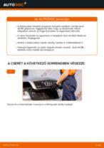 Hátsó féktárcsák-csere Audi A4 B6 gépkocsin – Útmutató