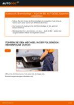 Wie Audi A4 B6 Bremsbeläge hinten wechseln - Anleitung