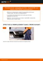 Comment changer : plaquettes de frein arrière sur Audi A4 B6 - Guide de remplacement
