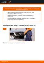 Skift Bremseklods AUDI A4: pdf gratis