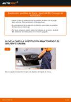 Cómo cambiar: pastillas de freno de la parte delantera - Audi A4 B6 | Guía de sustitución