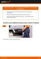 Kuinka vaihtaa jarrupalat taakse Audi A4 B6-autoon – vaihto-ohje