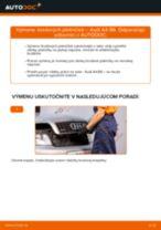 Výmena Hlava / čap spojovacej tyče riadenia AUDI A4: dielenská príručka