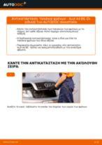 Πώς να αλλάξετε τακάκια φρένων πίσω σε Audi A4 B6 - Οδηγίες αντικατάστασης
