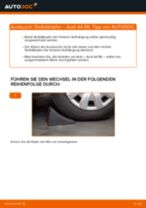 Wie Bremszange hinten links beim Seat Cordoba 6L2 wechseln - Handbuch online