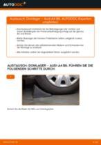 AUDI A4 (8E2, B6) Bremstrommel wechseln vorne und hinten Anleitung pdf