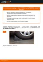 Hátsó toronycsapágy-csere Audi A4 B6 gépkocsin – Útmutató