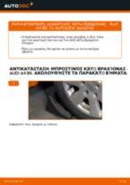 Πώς να αλλάξετε μπροστινός κάτω βραχίονας σε Audi A4 B6 - Οδηγίες αντικατάστασης