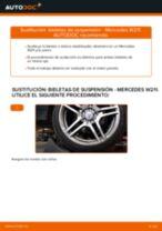 Cómo cambiar: bieletas de suspensión de la parte delantera - Mercedes W211 | Guía de sustitución