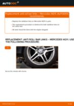 Replacing Drop links MERCEDES-BENZ E-CLASS: free pdf
