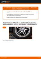 Como mudar tirante da barra estabilizadora da parte dianteira em Mercedes W211 - guia de substituição