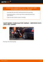 Kuidas vahetada ja reguleerida eesmine parem Stabilisaatori otsavarras: tasuta pdf juhend