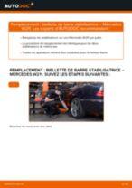 Comment changer : biellette de barre stabilisatrice arrière sur Mercedes W211 - Guide de remplacement
