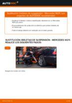 Cómo cambiar: bieletas de suspensión de la parte trasera - Mercedes W211 | Guía de sustitución