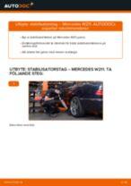 Byta Länk krängningshämmare MERCEDES-BENZ E-CLASS: gratis pdf