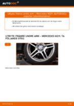 Byta främre undre arm på Mercedes W211 – utbytesguide