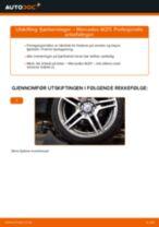 Slik bytter du fjærbenslager fremme på en Mercedes W211 – veiledning