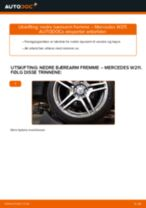 Slik bytter du nedre bærearm fremme på en Mercedes W211 – veiledning