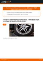 Ako vymeniť predné spodné rameno na Mercedes W211 – návod na výmenu