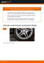 Como mudar cabeçotes do amortecedores da parte dianteira em Mercedes W211 - guia de substituição