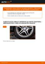 Como mudar braço inferior da parte dianteira em Mercedes W211 - guia de substituição