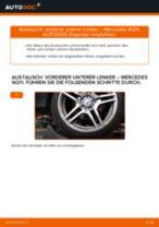 Wie Mercedes W211 vorderer unterer Lenker wechseln - Anleitung