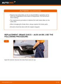 How to carry out replacement: Brake Discs on 1.9 TDI Audi A4 b6