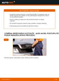 Jak provést výměnu: Brzdovy kotouc na 1.9 TDI Audi A4 b6