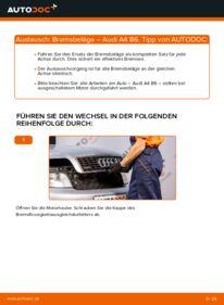 Wie der Wechsel durchführt wird: Bremsbeläge 1.9 TDI Audi A4 b6 tauschen