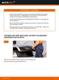 Wie der Wechsel durchführt wird: Bremsscheiben 1.9 TDI Audi A4 B6 tauschen